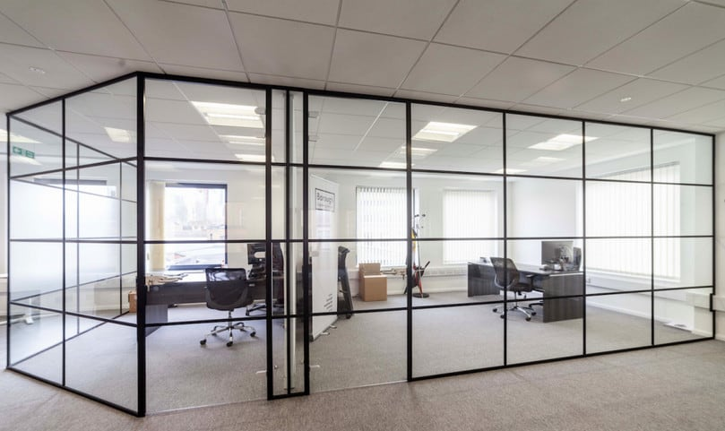 framed glass office partitions for Sydney CBD office