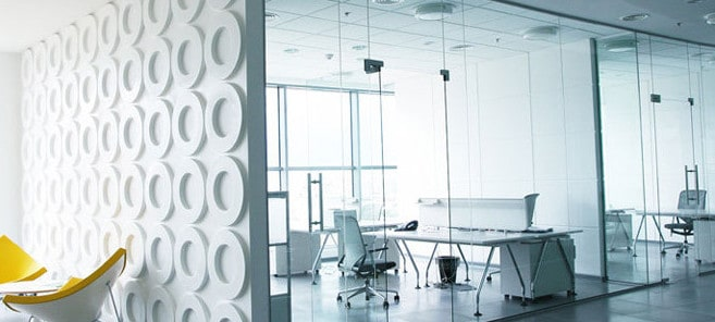 frameless glass partition walls in a Sydney office